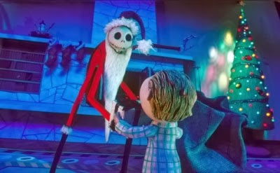 "Jack Skellington, the Pumpkin King, plots to kidnap Santa Claus in ""The Nightmare Before Christmas"""