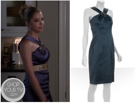 Pretty Little Liars: Season 3 Episode 24 Hanna's Blue Silky Cocktail Dress