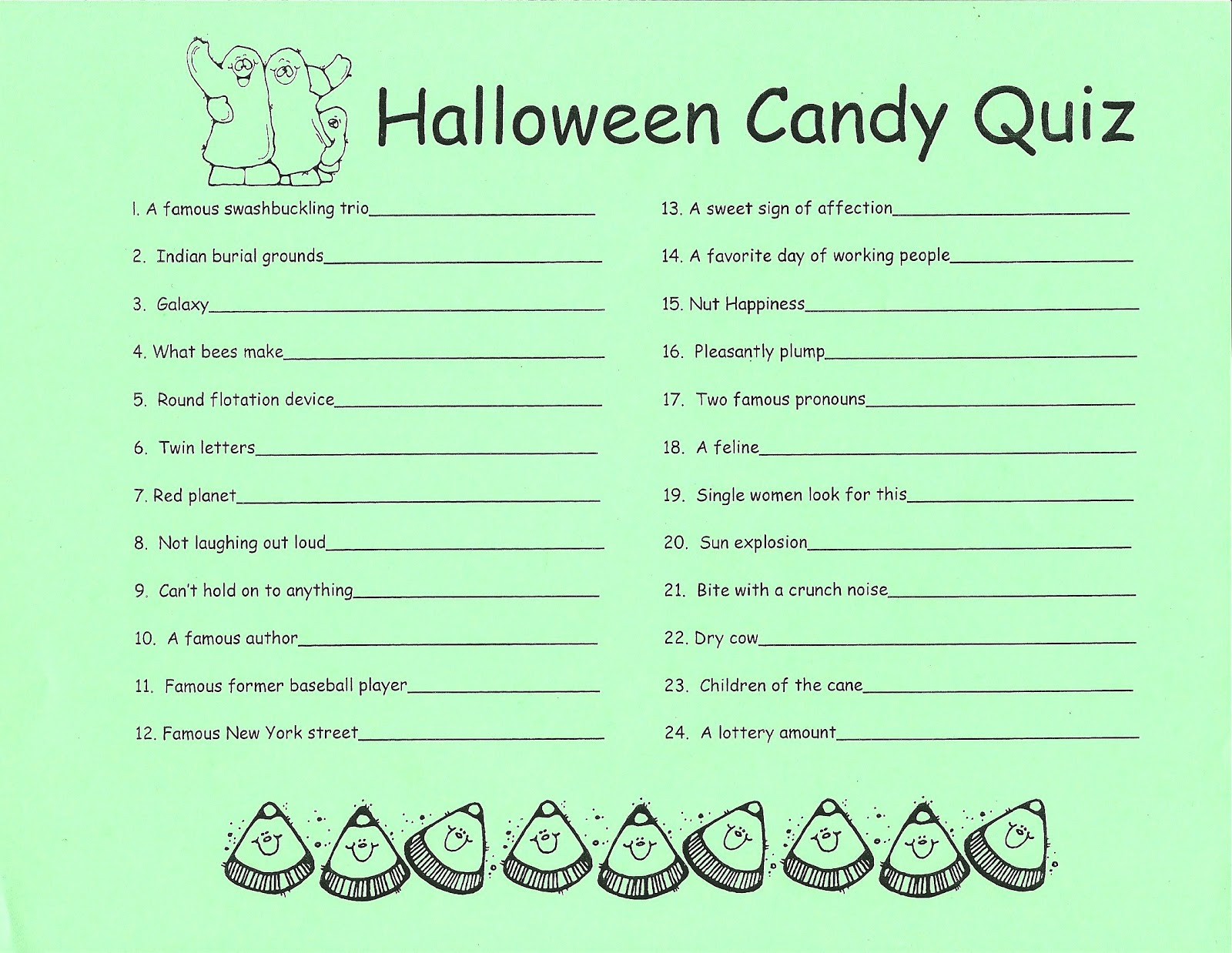 halloween candy quiz printable - AOL Image Search results