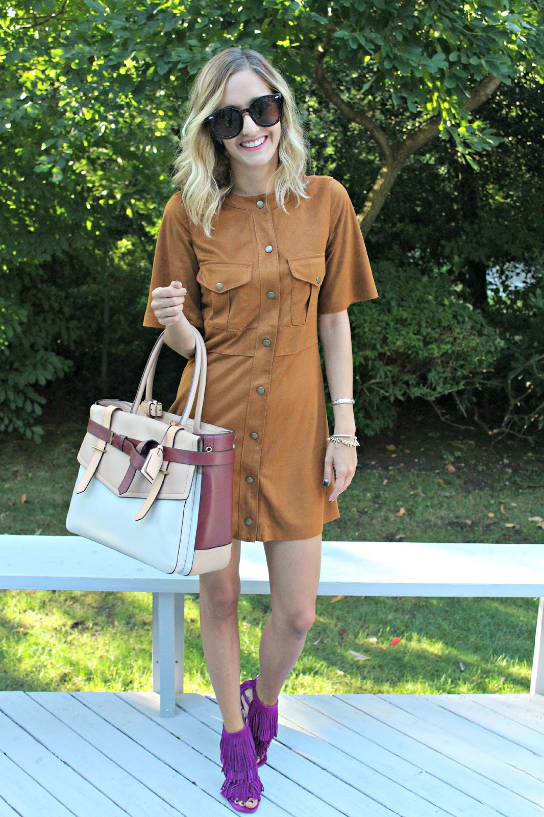 zara suede dress
