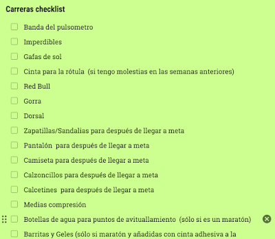 google keep checklist