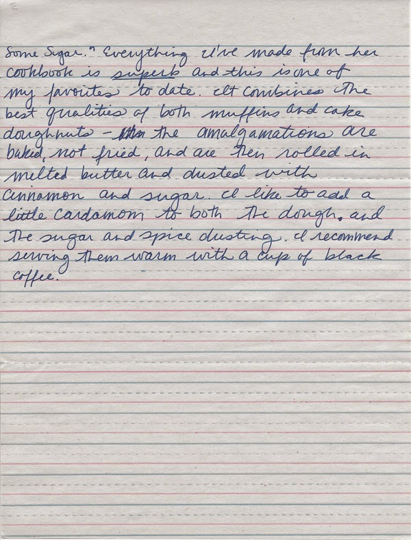 Handwritten blog post