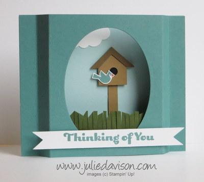 http://juliedavison.blogspot.com/2014/09/video-bird-house-punch-art-diorama-card.html