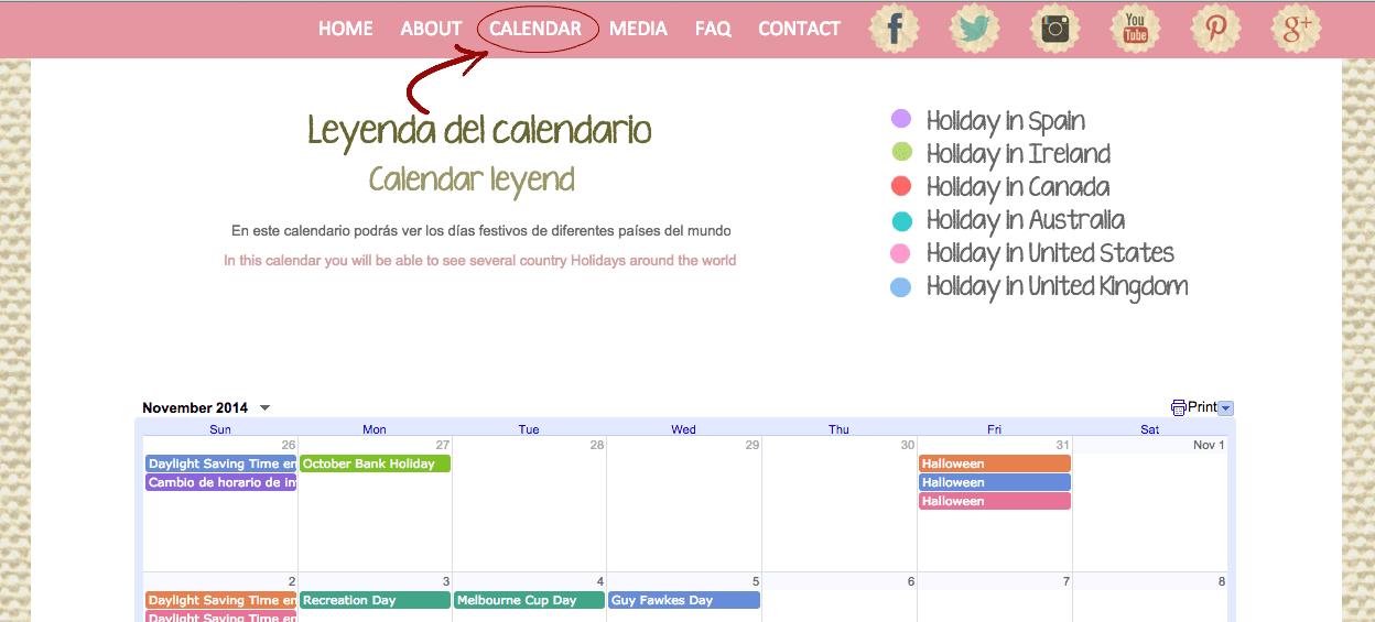 au pair calendar holidays