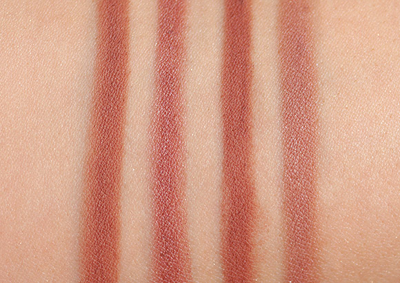 MAC Nice 'n' Spicy Pro Longwear Lip Pencil Swatches and Comparisons
