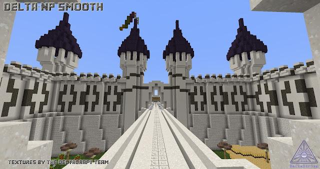 Palacio de Minecraft en el que se utilizaron las texturas DeltaCraft Np Smooth