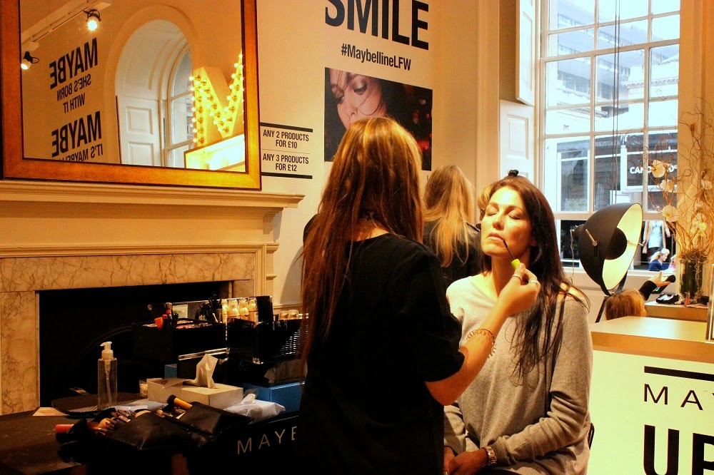 London Fashion Weekend September 2014 Maybelline Makeover