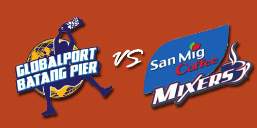 Watch Globalport Batang Pier vs San Mig Coffee Mixers PBA Live Stream March 2, 2013