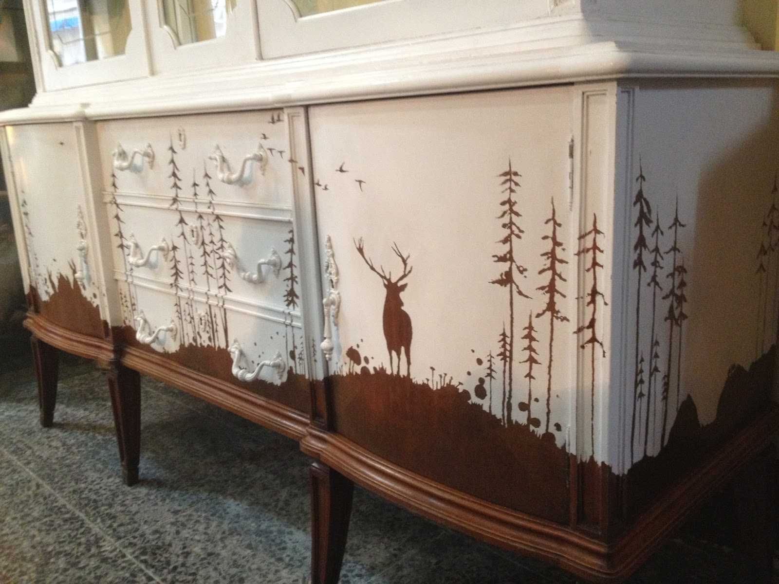 Muebles Viejos Restaurados Fabulous Muebles Pintados Con Colores  # Muebles Restaurados