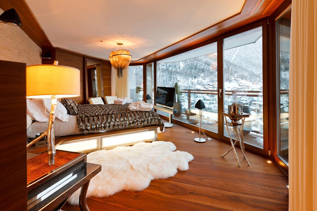 Picture of modern bedroom with the views