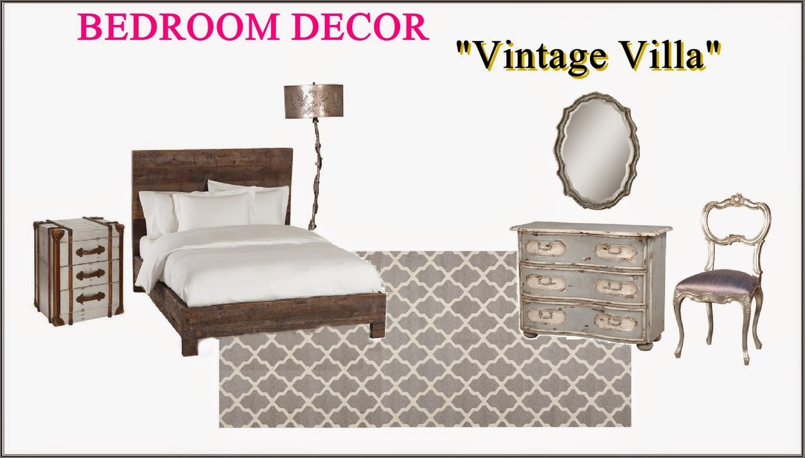 bedroom decorated like villa