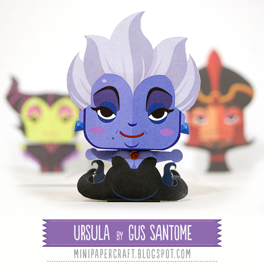Mini Ursula Paper Toy