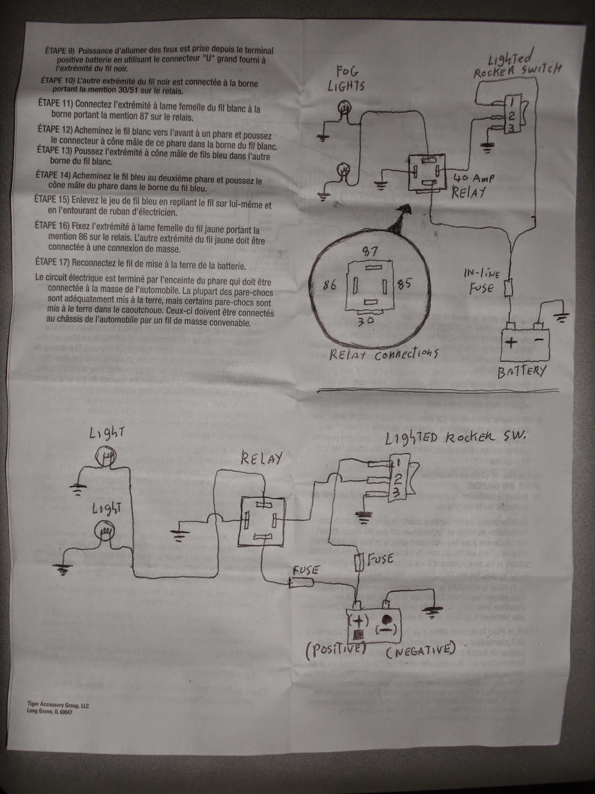 My Knight Rider 2000 Project Diagrams And Schematics Negative Trigger Fog Light Relay Wiring Diagram Lights Do Not Say Anything About Needing A You Otherwise Will Just Keep Blowing Switches Or It Wont Work
