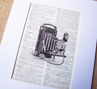 image vintage dictionary page art print camera kodak black and white