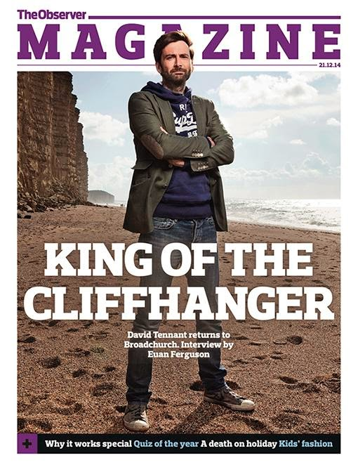 David Tennant's cover of The Observer magazine