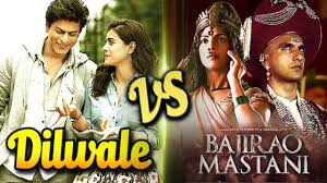 Powered by word of mouth publicity Bajirao Mastani overtook the fancied Dilwale on Monday.  Bajirao Mastani earned 10.25 crore and Dilwale Rs. 10.09 cr on the first day of the week.  While the difference between them was not much, the development is terrible for Dilwale.