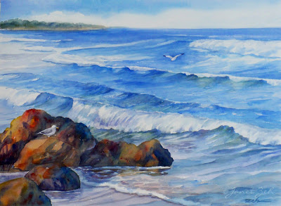 One of my Maine seascape paintings