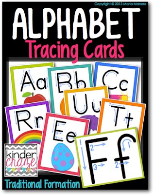 alphabet tracing cards to help students with letter identification and formation