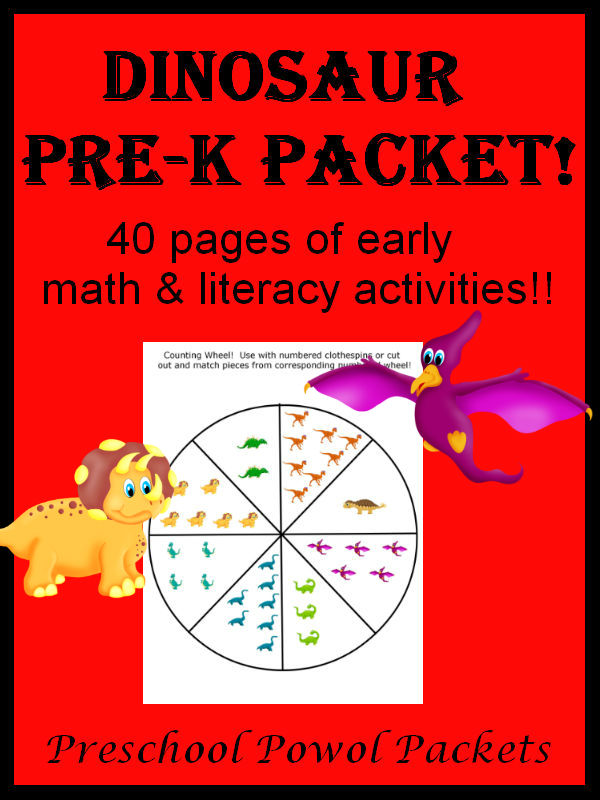 Dinosaur PreK Packet {3 Day FREEBIE!!}