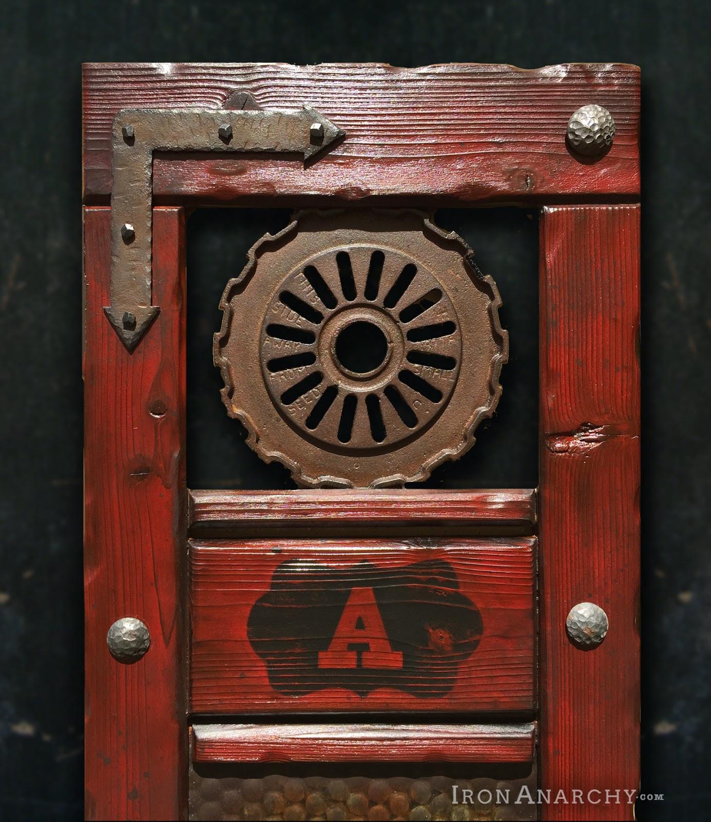 Handcrafted custom swinging saloon doors - Custom Western Saloon Doors From Iron Anarchy