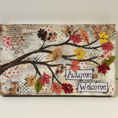 autumn welcome, autumn mixed media