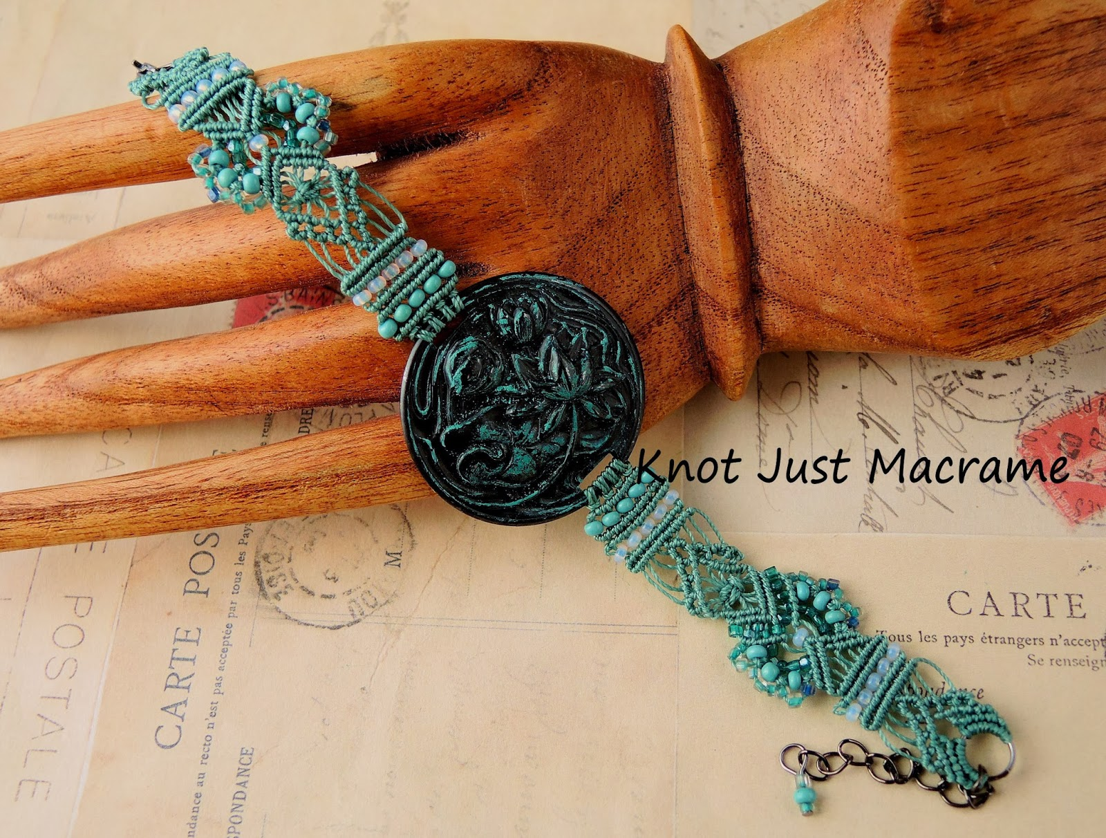 Downton Abbey inspired bracelet hand knotted lace