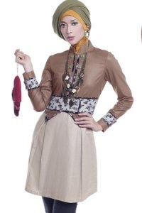 Esme Blus E-010405 A - Coklat (Toko Jilbab dan Busana Muslimah Terbaru)