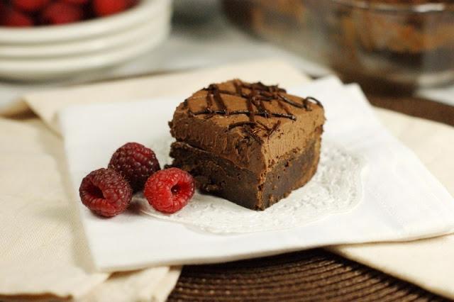 ... Playground: Decadent Raspberry Truffle Brownies {& 2nd Bloggiversary