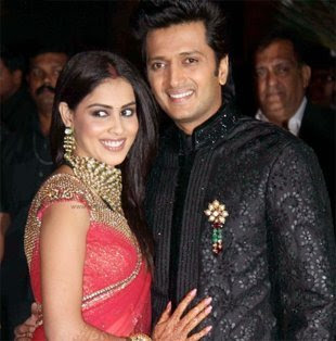 Genelia D'Souza and Ritesh Deshmukh - Romantic Bollywood couples