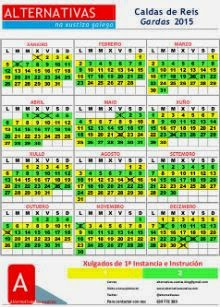 Calendarios Pontevedra