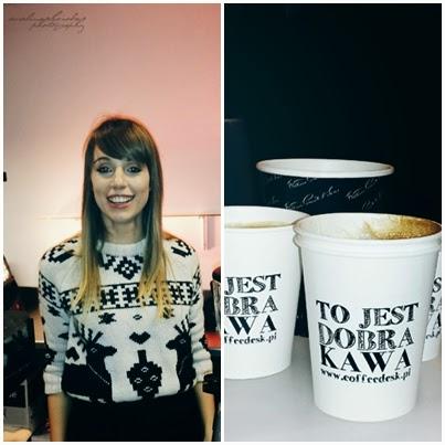 Blogowigilia 2014, Warszawa, Stadion Narodowy,caffedesk, kawa, coffetime, kobieta, brzydki sweter, usmiech