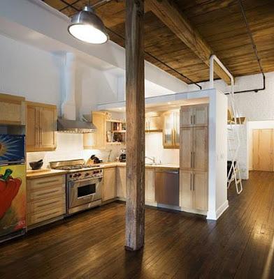 desain kamar tidur pada ruangan sempit