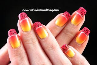 Tequila Sunrise Gradient nails
