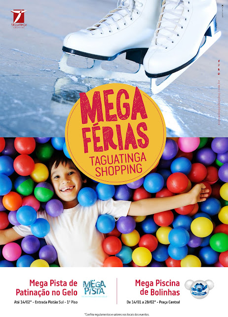 Mega piscina de bolinhas no Taguatinga Shopping