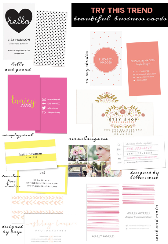 Try This Trend: Beautiful Business Cards
