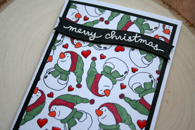 Snowman Christmas Card by Jess Crafts using Gerda Steiner Designs Snowman Friends