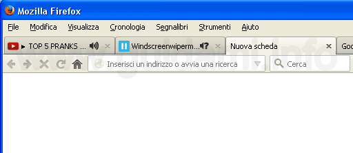 Indicatore Noise Control schede rumorose Firefox