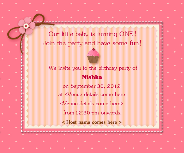 My design blog 1st birthday invitation cards stopboris Image collections