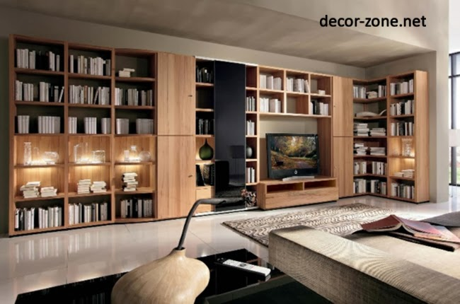 Modern home library design ideas - Contemporary modern home design ideas with decor ...