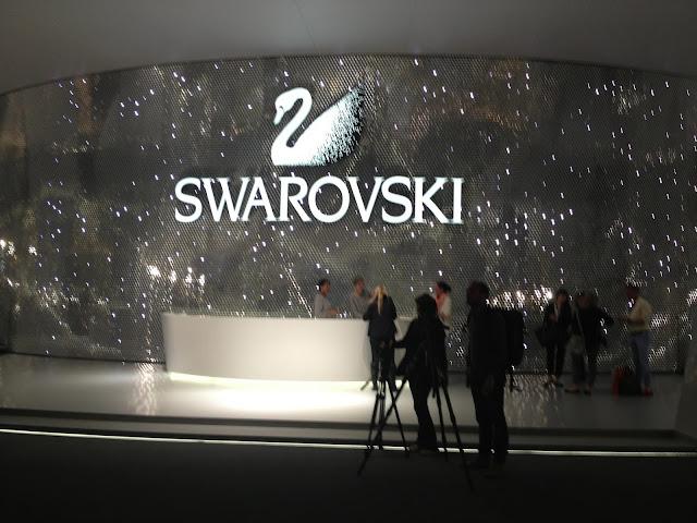 Swarovski's new stand at Baselworld 2013 in Hall 1.1 ©www.greenpebblesblog.com