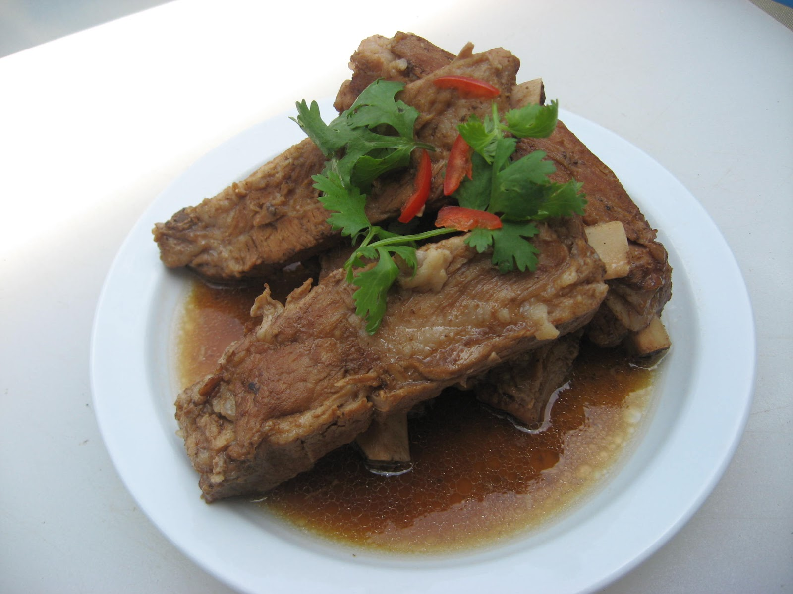 Modern thai food slow roasted spare ribs kaduuk moo aob - Contemporary cuisine recipes ...
