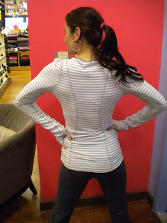 lululemon silver spoon back on track long sleeve midlayer top