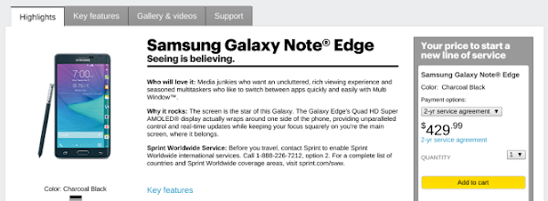 Samsung Galaxy Note Edge for Sprint