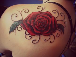 Tribal Rose Tattoos Designs| Tribal Rose Tattoos Idea