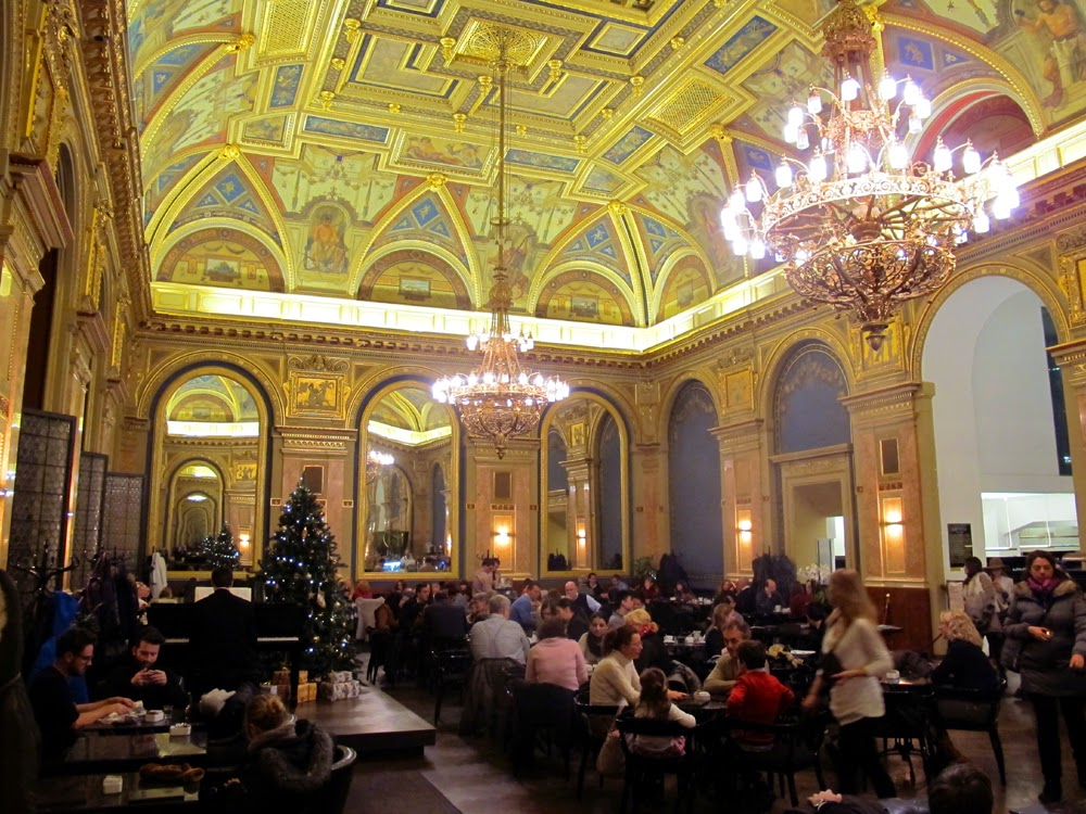 Beautiful grand book cafe, Budapest, Hungary