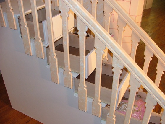 Kid 39 s beds i 39 d like to have if i were a child zibees for Diy staircase drawers