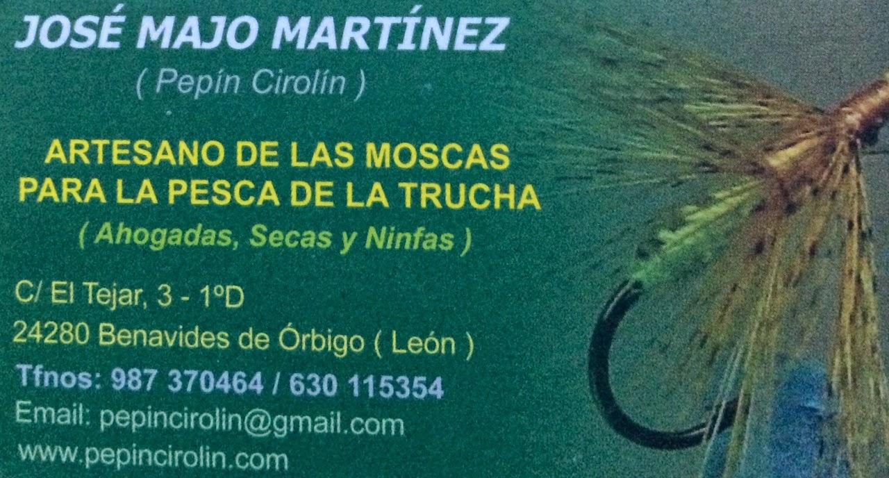 """""""Pepín Cirolín"""" artesano de moscas para la pesca"""