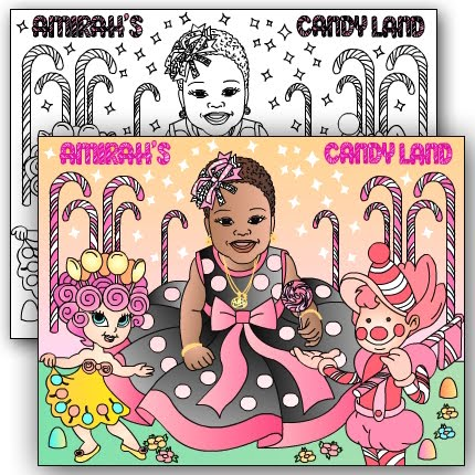 NEW* CANDY LAND Custom coloring page