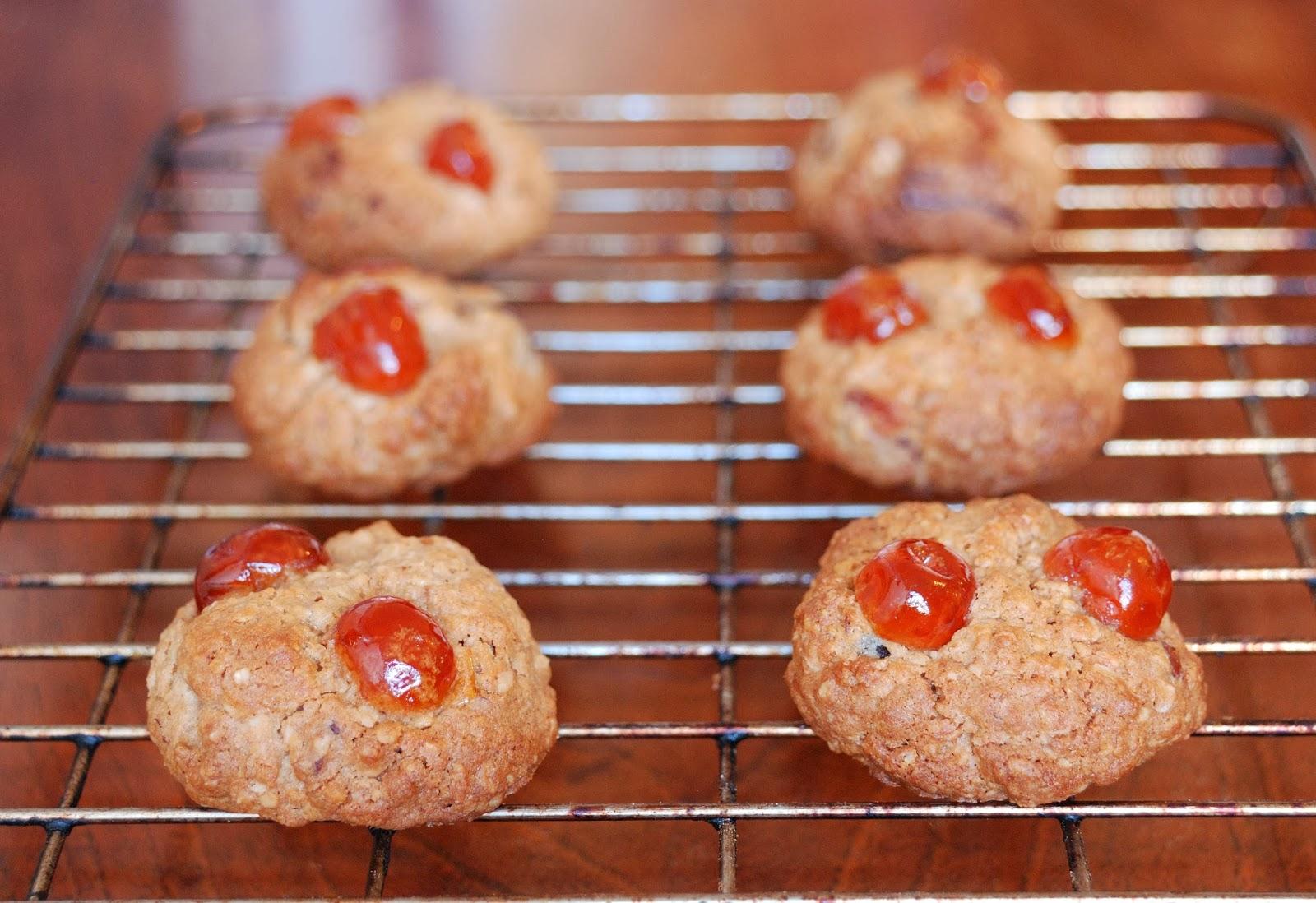 recette cookies aux cerises confites de provence et noix de pecan