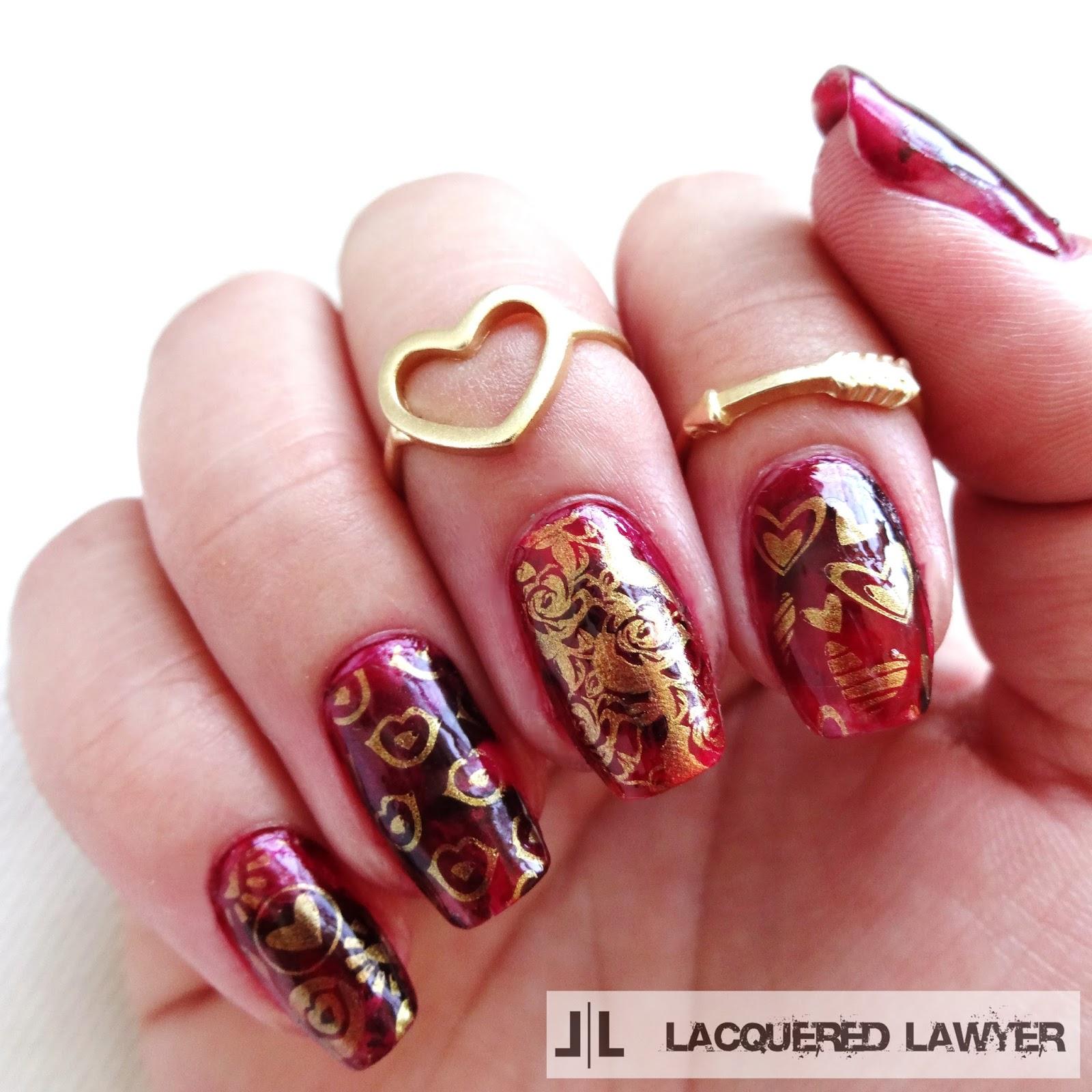 Love nail stamping nail art